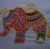 Вышивка слоника 11х10 260руб