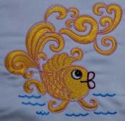 Золотая рыбка 12х12  200руб